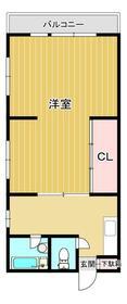 戸ヶ崎コーポ・101号室の間取り