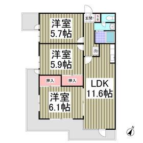 BULLアパートメント大宮・205号室の間取り