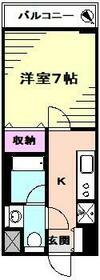 アンソレイユ横浜・702号室の間取り