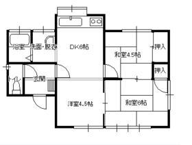 正慶住宅2号・1号室の間取り