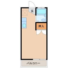ジョイフルハイツA棟・208号室の間取り