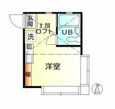 イーリスコート西横浜A・206号室の間取り