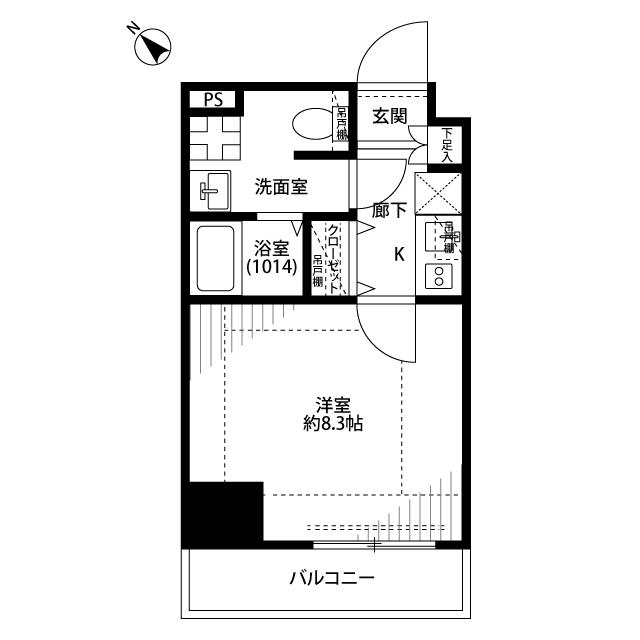 プレール・ドゥーク東京EASTⅤ・701号室の間取り
