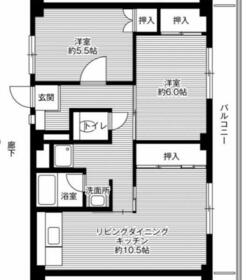 ビレッジハウス幸田4号棟・0302号室の間取り