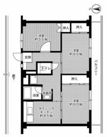 ビレッジハウス幸田6号棟・0304号室の間取り