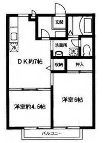 エクセレント桜泉・103号室の間取り