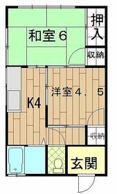粟田荘・2F号室の間取り