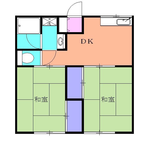 コーポMATSUNO・101号室の間取り