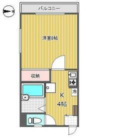 ハイツ桜丘A・207号室の間取り