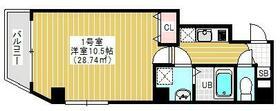 ブランクレール浅草・402号室の間取り