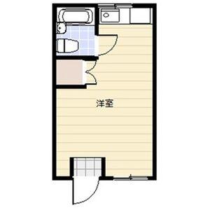 樫山ビル若葉荘・103号室の間取り