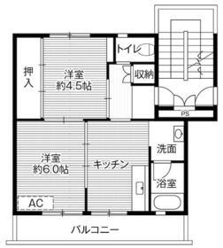 ビレッジハウス大平1号棟・0507号室の間取り