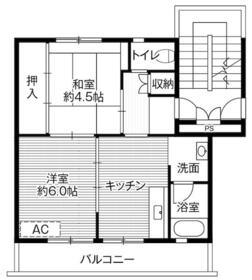 ビレッジハウス大平2号棟・0504号室の間取り