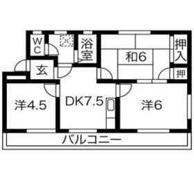 プレアール江南・1-201号室の間取り