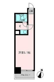 コモド横浜サウス・0308号室の間取り