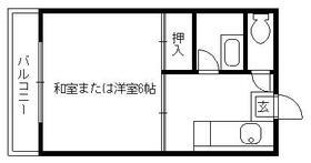 高橋ハイツ井尻・0203号室の間取り