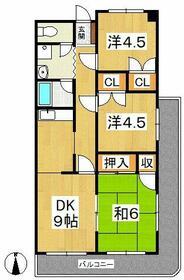 清水山第1パークハイツ・0205号室の間取り