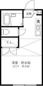 カーサ横浜青葉・102号室の間取り