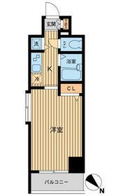 HF東神田レジデンス・1001号室の間取り