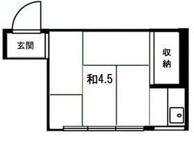 武井荘・206号室の間取り