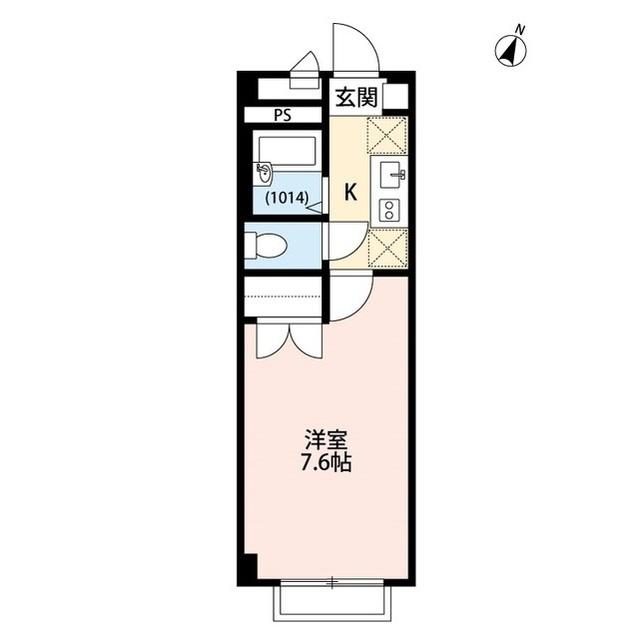 アンプルール フェール 上福岡Ⅱ・203号室の間取り
