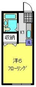 コーポ谷田貝・102号室の間取り