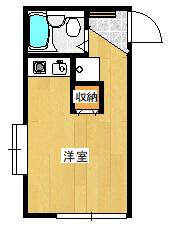 MOTマンション・206号室の間取り