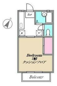 ベルフォーレ・B205号室の間取り