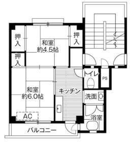 ビレッジハウス愛川1号棟・0108号室の間取り