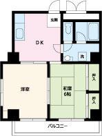 RAYHAUS横浜鶴見Ⅰ・309号室の間取り