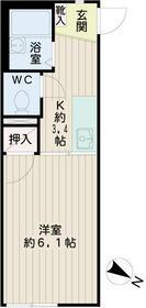 アルカディア桜ヶ丘・00105号室の間取り