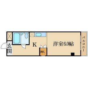 レジデンス昭和四日市・6B号室の間取り