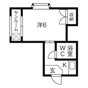 新清洲クラウンビル・201号室の間取り