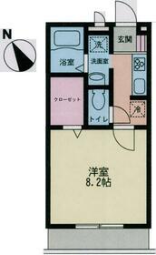 プレミール横浜・206号室の間取り