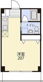 プリマヴェーラ・207号室の間取り