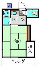今井荘・205号室の間取り