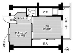 ビレッジハウス忠岡1号棟・0409号室の間取り