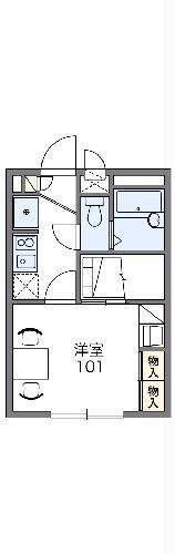 レオパレス富士見Ⅱ・208号室の間取り