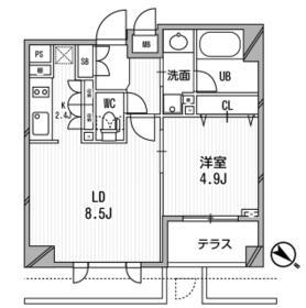 クリオ渋谷ラ・モード・105号室の間取り