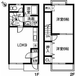 デュ-プ竹田B・102号室の間取り