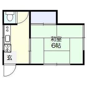 植松アパート・201号室の間取り