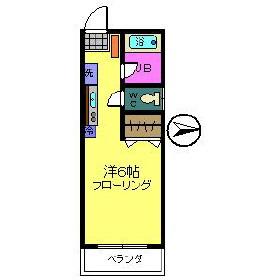 コーポ川崎・202号室の間取り