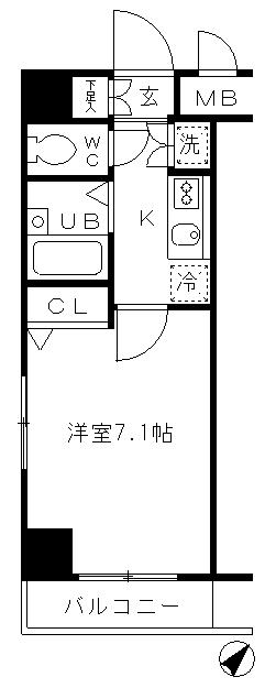 プレール日本橋弐番館503号室・503号室の間取り
