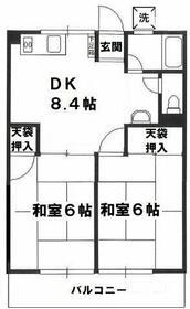 シティハイム名古屋・203号室の間取り
