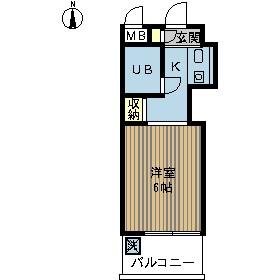 ロザール鎌ヶ谷・406号室の間取り