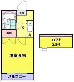 ガーデンヒルズ新倉A・206号室の間取り