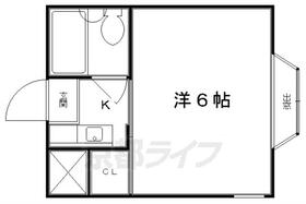 ハイム上賀茂・208号室の間取り