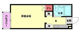 ルベール東小金井アネックス・102号室の間取り