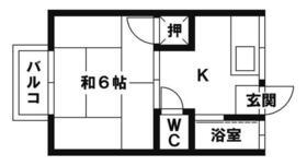 コーポ井尻B・203号室の間取り