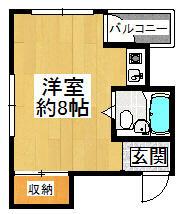 リバーサイド橋本・102号室の間取り